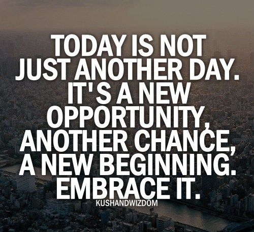 Image result for today is your opportunity inspiration